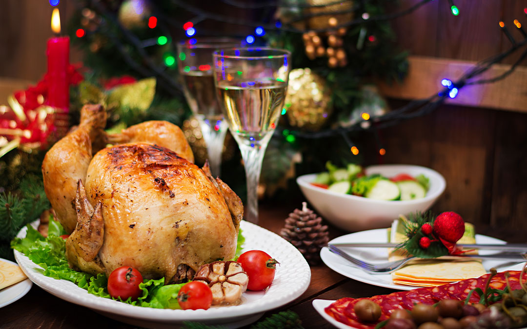 Receta de pollo relleno de pavo para Nochevieja